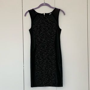 H&M Faux Leather and Mesh Cocktail Dress
